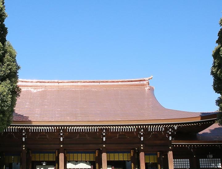 明治神宮外拝殿の御屋根が新しくなりました