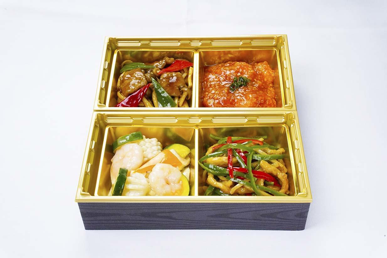 11/1より《テイクアウト》「竹游林 二種の主菜が選べる中華弁当」  / Take out