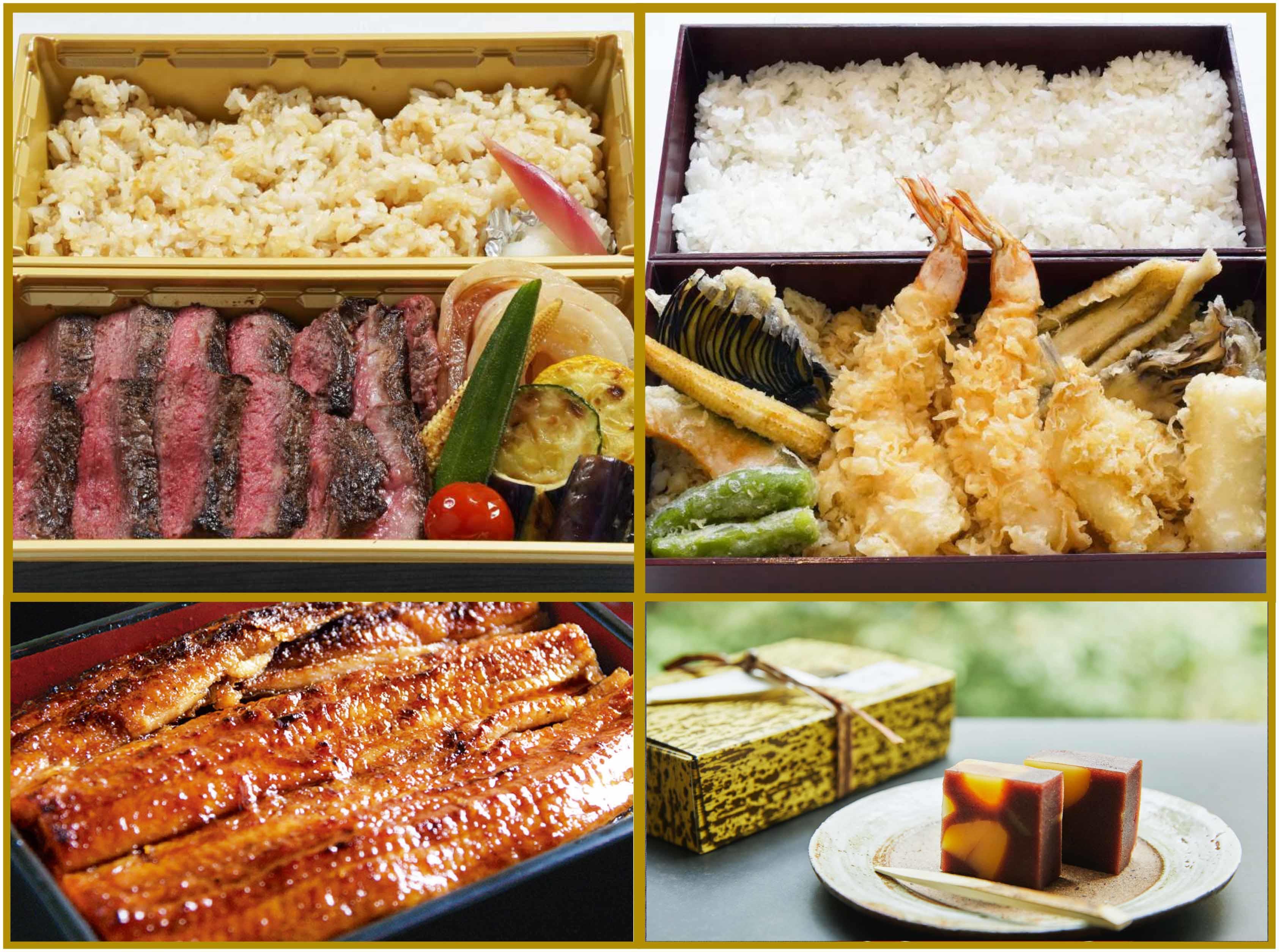 《テイクアウト》「天重・サーロインステーキ重・鰻重」 / Takeout rice box menus