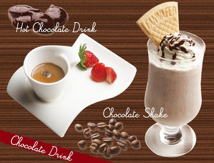 11/1より「濃厚ホットチョコレートドリンク」「チョコレートシェイク」