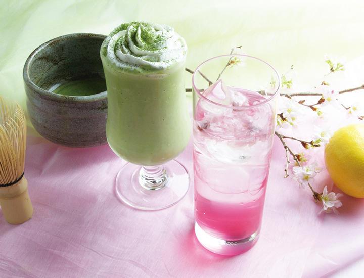 3/1より「抹茶ミルクシェイク」「桜レモンスカッシュ」