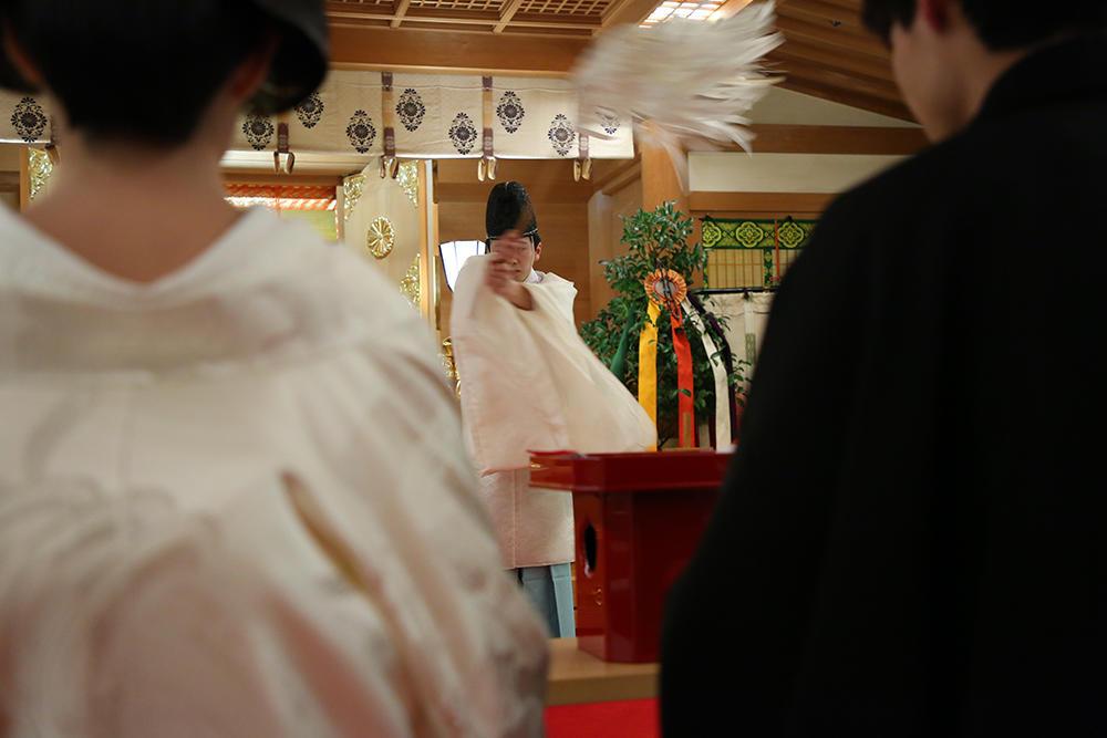 修祓の儀は、穢れ(けがれ)を祓い清めるために行う神事